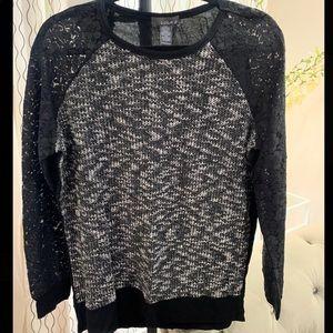 Lace Fashion Black Sweater